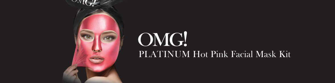 OMG! PLATINUM HOT PINK FACIAL MASK KIT banner