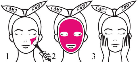 OMG! PLATINUM HOT PINK FACIAL MASK KIT FORMULA