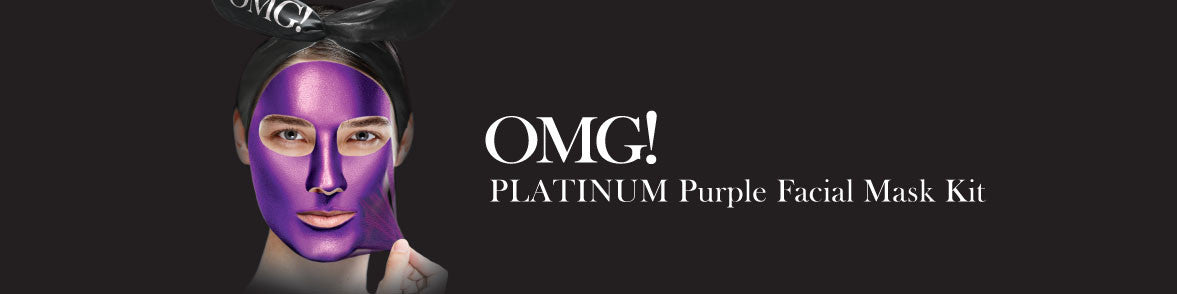 OMG! PLATINUM PURPLE FACIAL MASK KIT banner