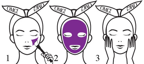 OMG! Platinum Purple Facial Mask Kit how to use