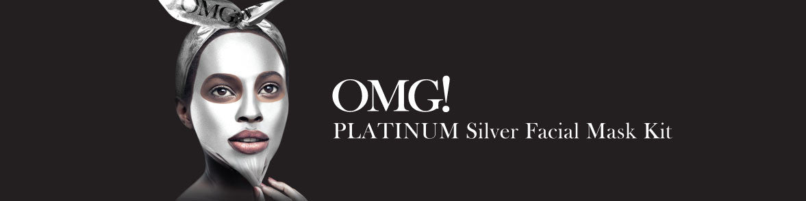 OMG! PLATINUM SILVER FACIAL MASK KIT 5 banner