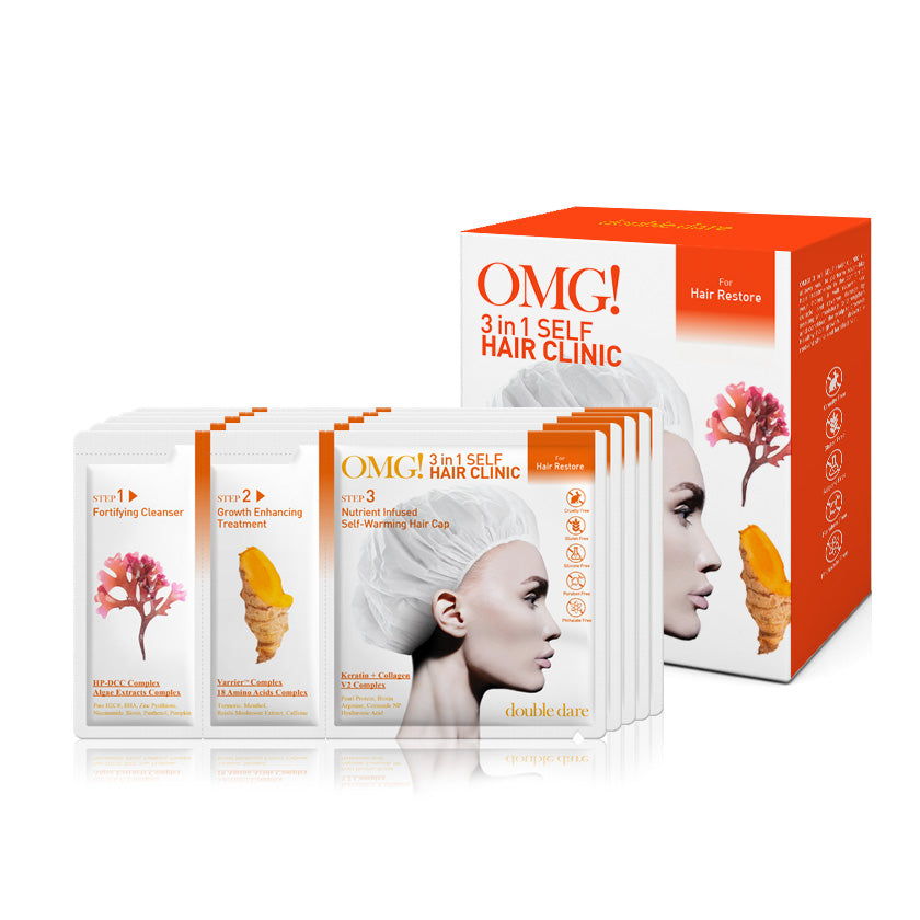 OMG! 3 in 1 Self HAIR CLINIC for Hair Restore - DOUBLE DARE