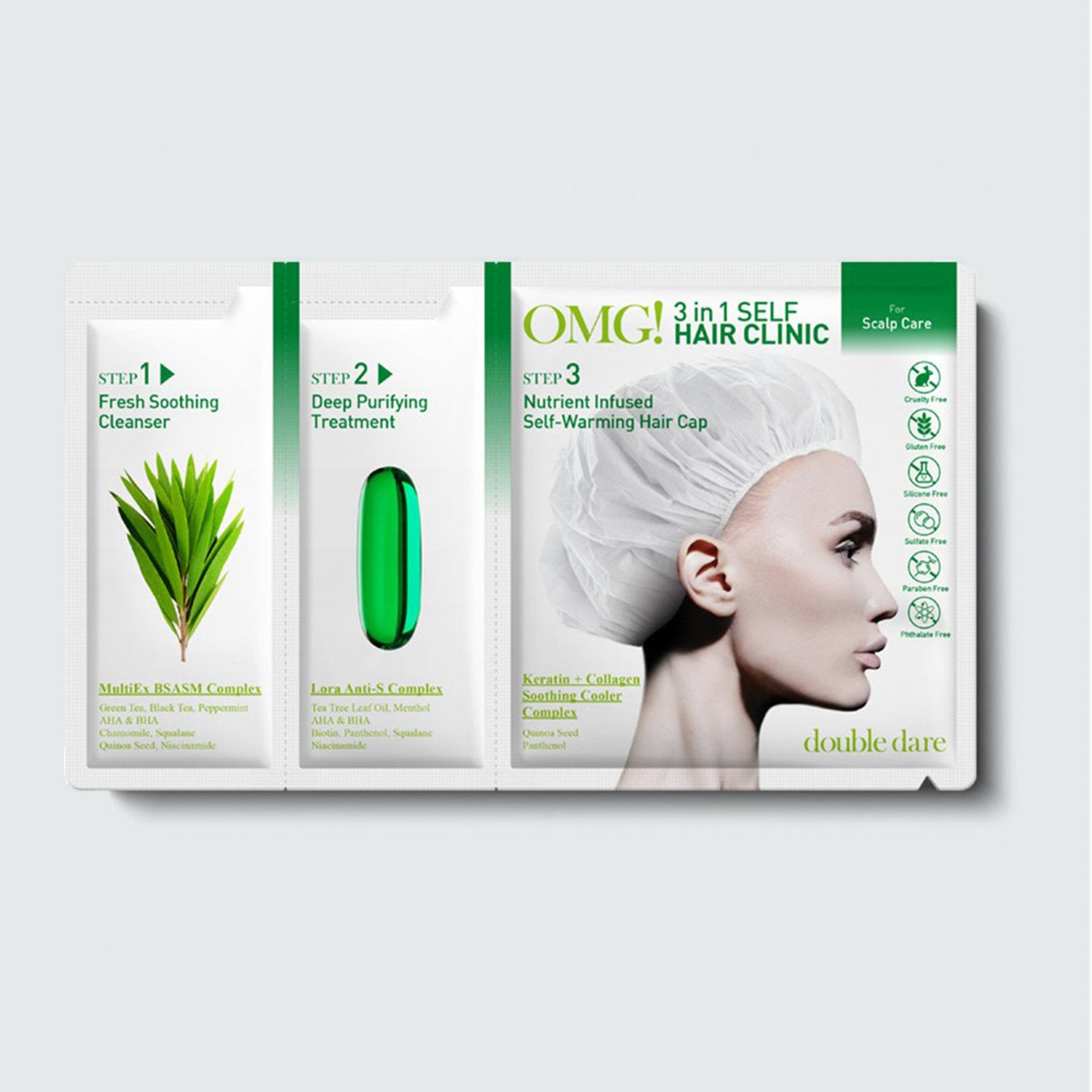 OMG! 3in1 SELF HAIR <br> CLINIC for Scalp Care - DOUBLE DARE