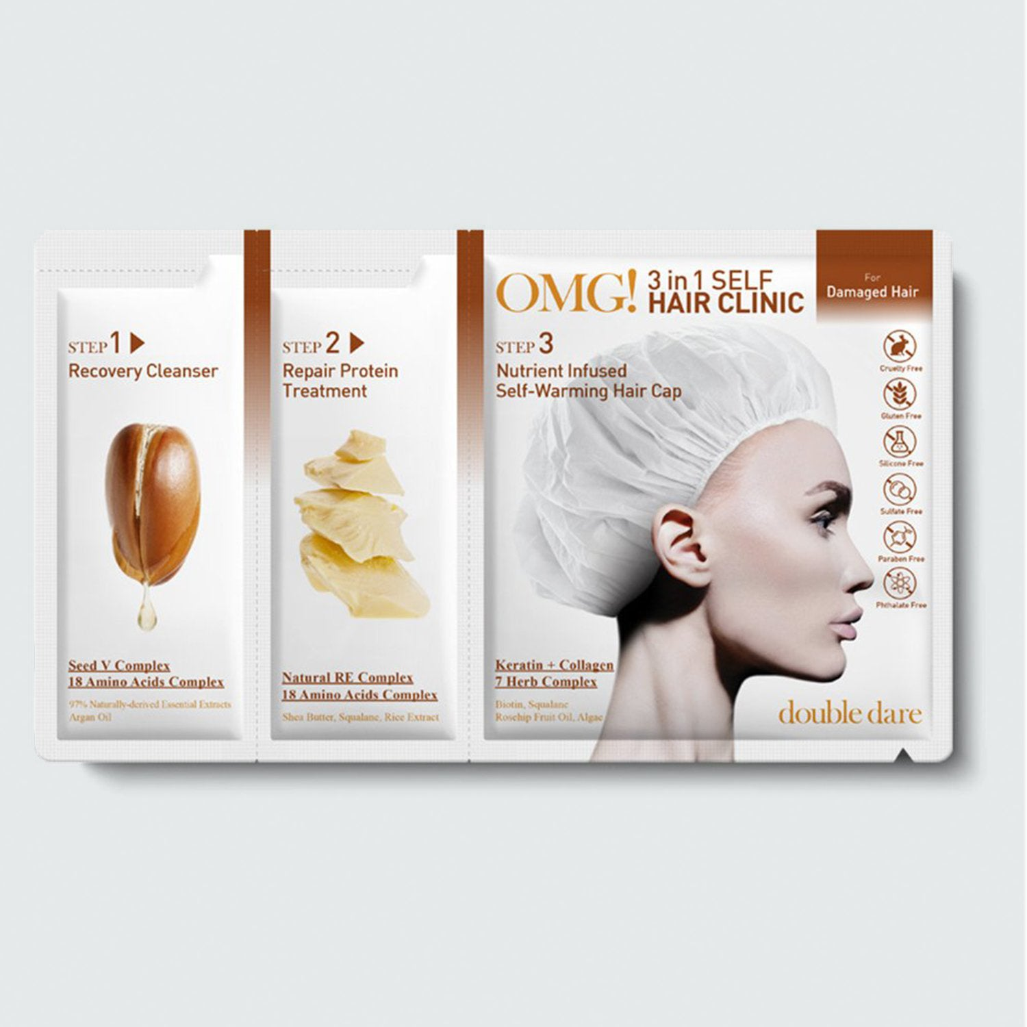 OMG! 3in1 Self HAIR <br> CLINIC for Damaged Hair - DOUBLE DARE