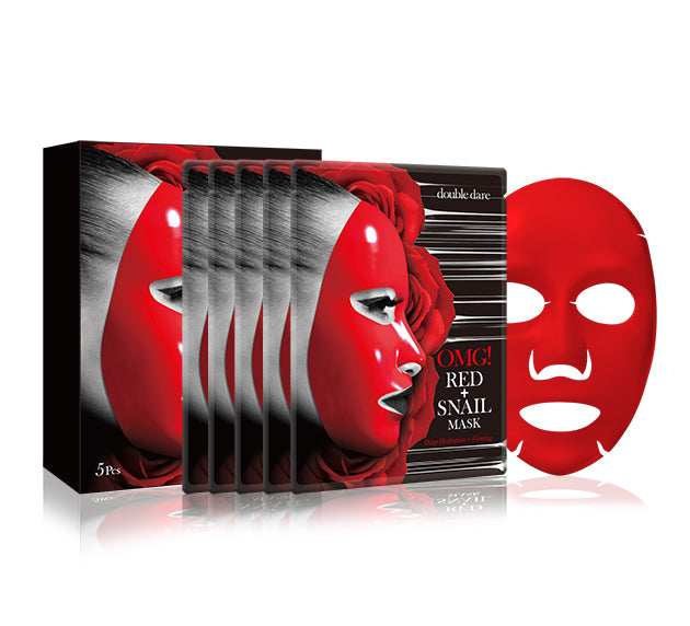 OMG! RED + SNAIL MASK - DOUBLE DARE