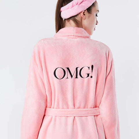OMG! Spa Robe Pink - DOUBLE DARE