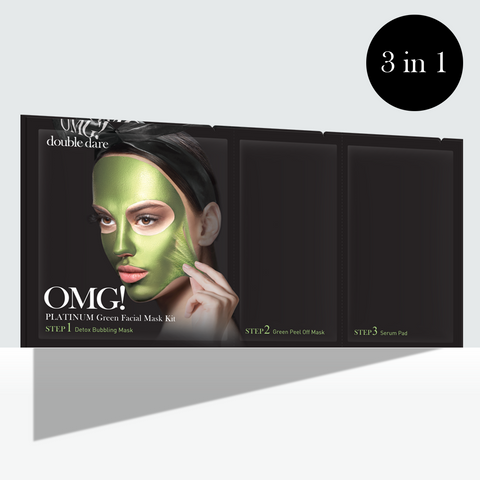 OMG! Platinum Green Facial Mask Kit - DOUBLE DARE