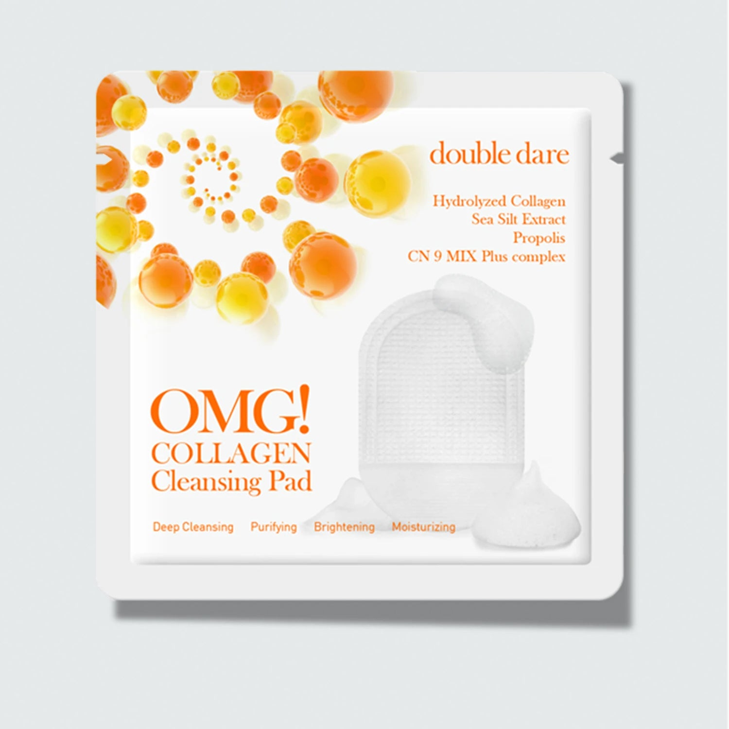 OMG! COLLAGEN <br>CLEANSING PAD - DOUBLE DARE