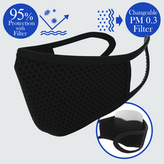 Bye! Bye! Germs OMG! Changeable Filter Mask - DOUBLE DARE