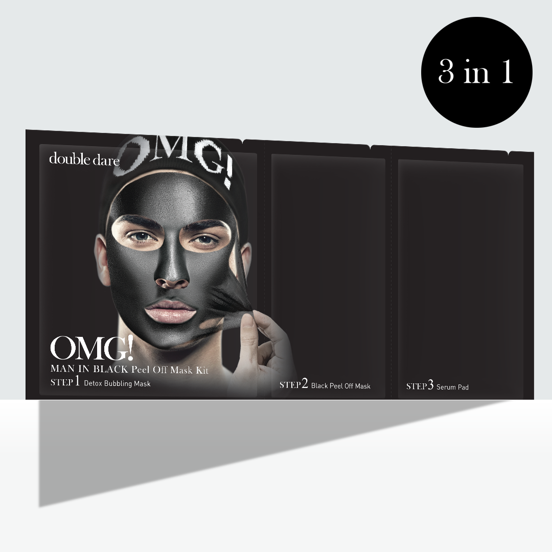 OMG! Man In Black Peel Off Mask Kit - DOUBLE DARE