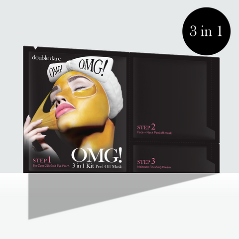 OMG! 3 in1 Kit Peel Off Mask - DOUBLE DARE