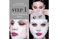 OMG! Platinum Silver Facial Mask Kit - DOUBLE DARE