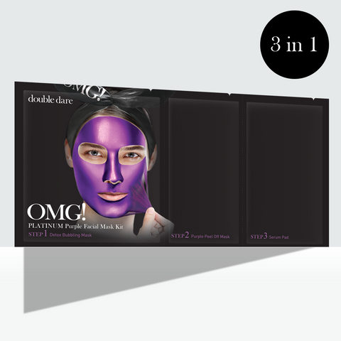 OMG! Platinum Purple Facial Mask Kit - DOUBLE DARE