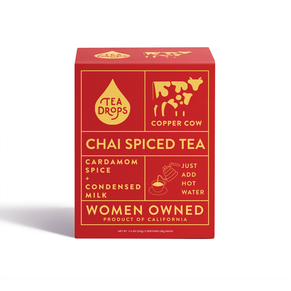 Copper Cow Coffee - Chai Spiced Tea I 5-Pack - Offensive Mug