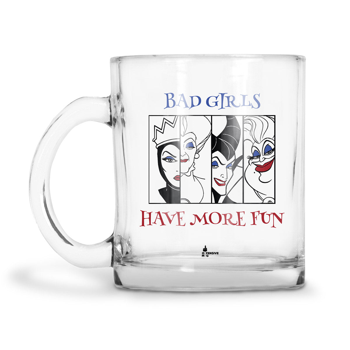 Charlie Glass Mug - Offensive Mug