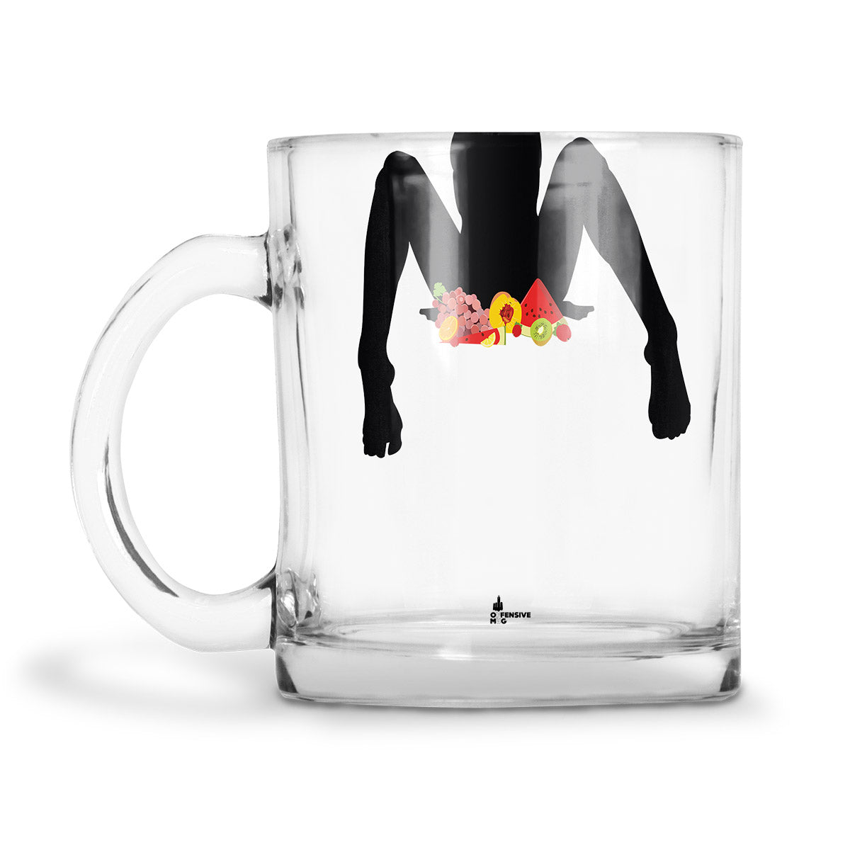 Peaches Glass Mug - Offensive Mug