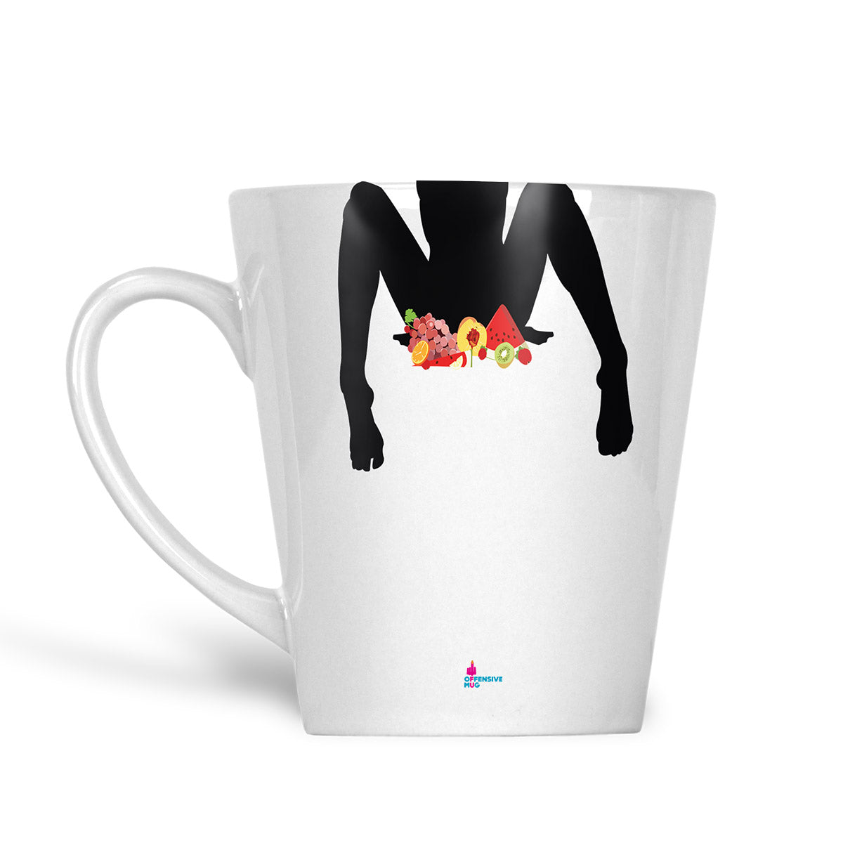 Peaches Latte Mug - Offensive Mug