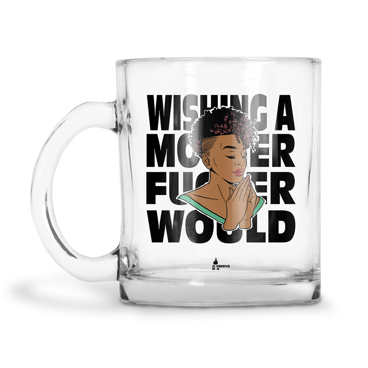 Rini Glass Mug - Offensive Mug
