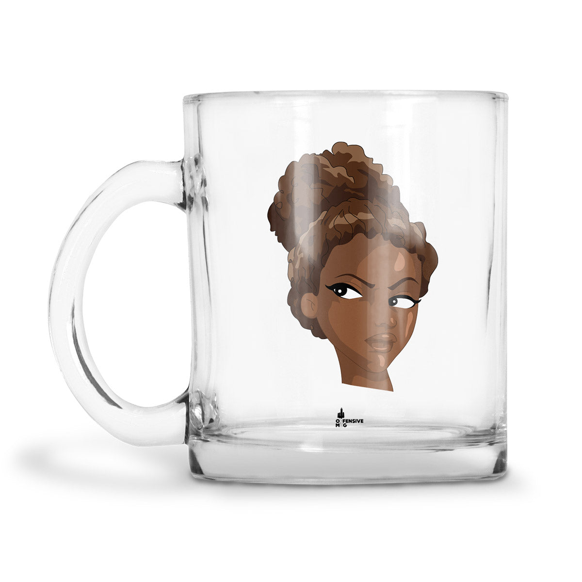 Yvette Glass Mug - Offensive Mug
