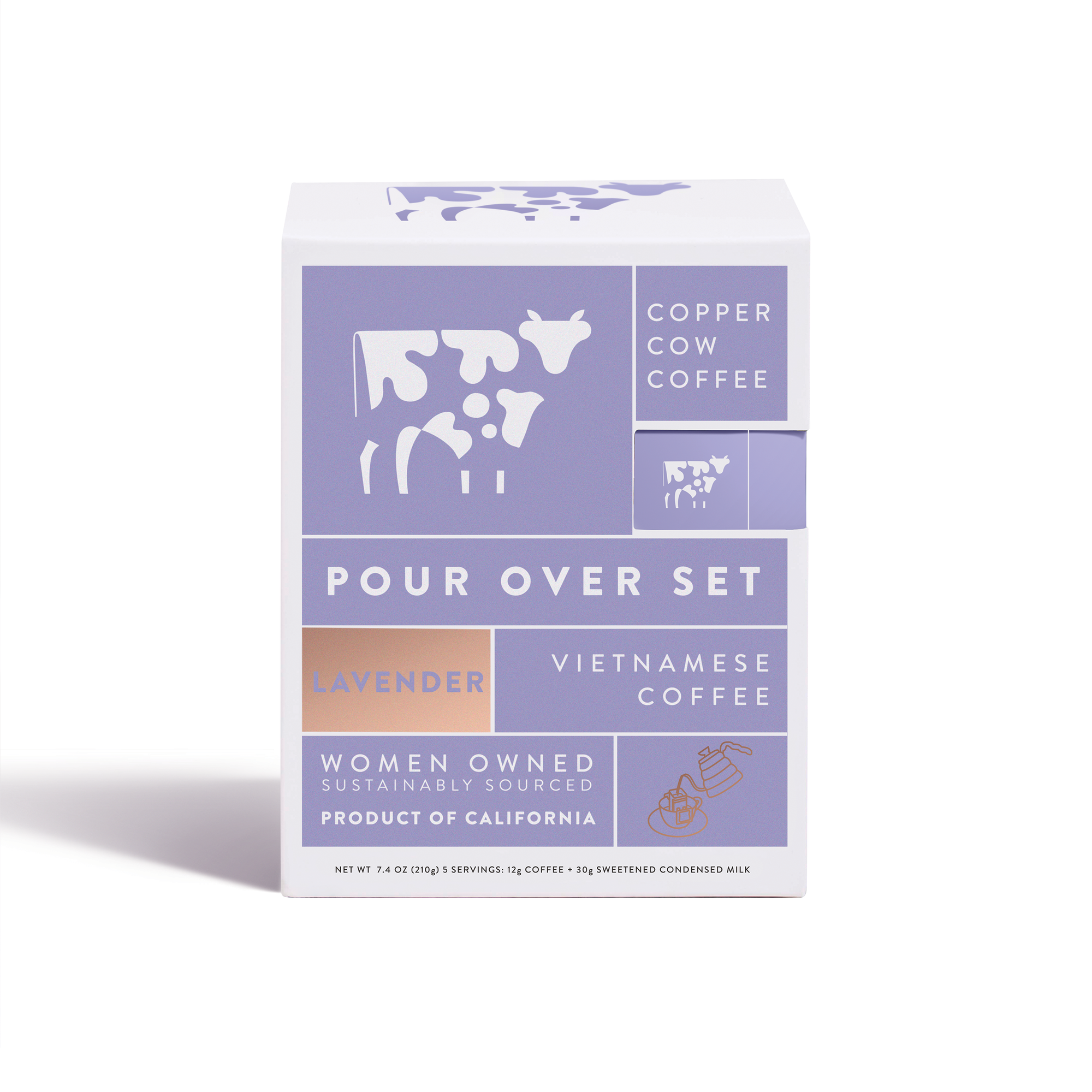 Copper Cow Coffee - Coffee - Lavender Latte | 5-Pack - Offensive Mug