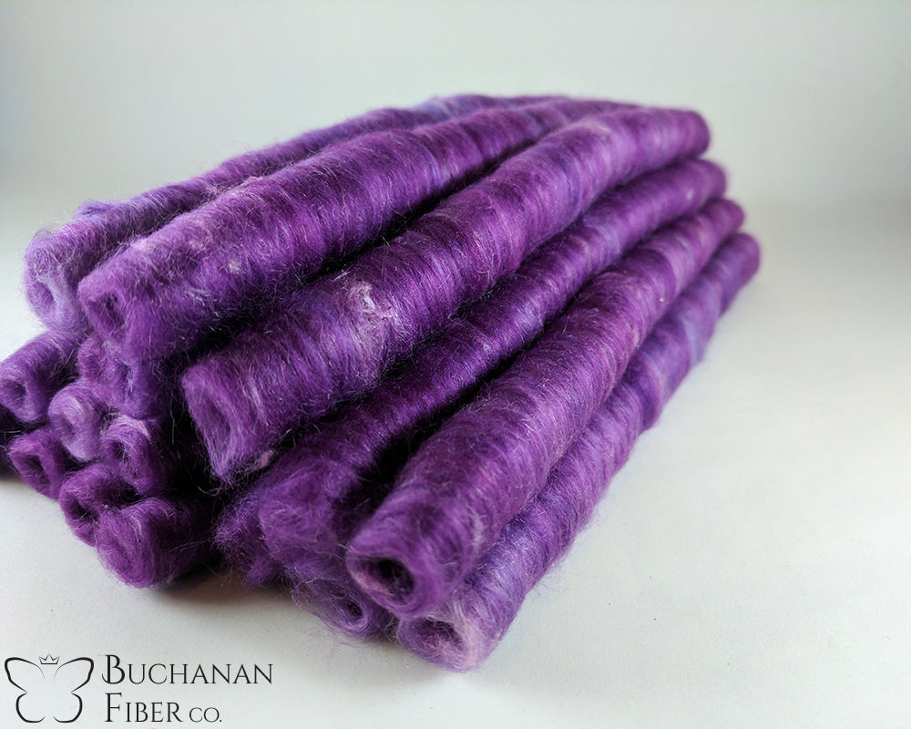 Cotton Milkweed Punis, Violet - Buchanan Fiber Co.
