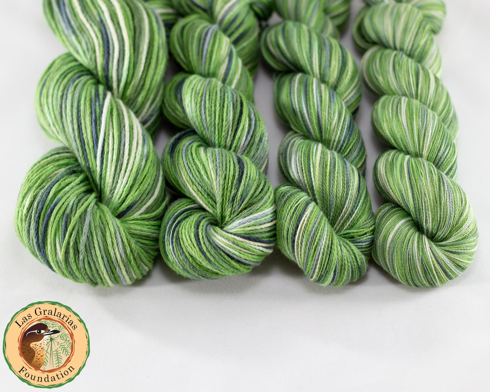 Organic & Fair Trade Cotton Yarn-Green, Grey, and Yellow