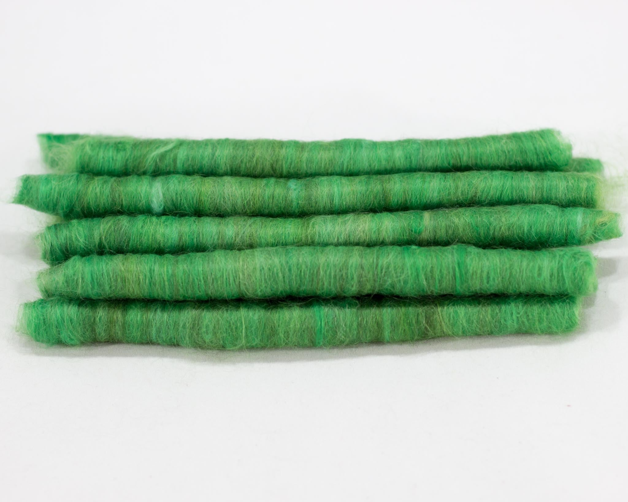 Cotton Alpaca Punis, Leafy Green - Buchanan Fiber Co.
