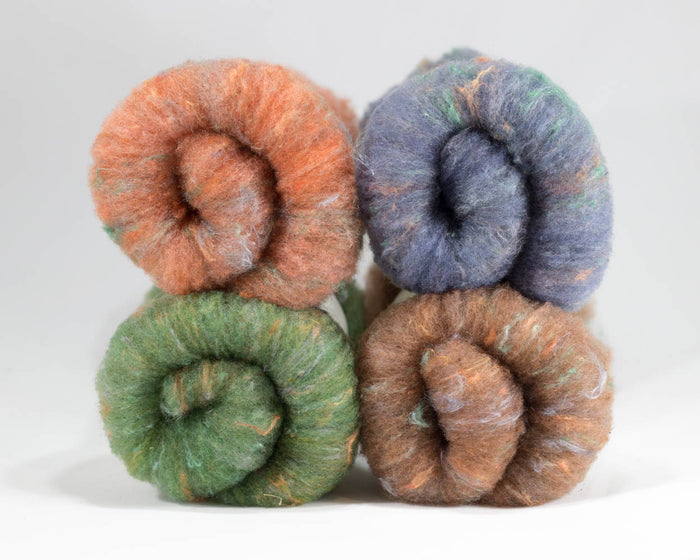Rambouillet Milkweed Batts, Sedona - Buchanan Fiber Co.