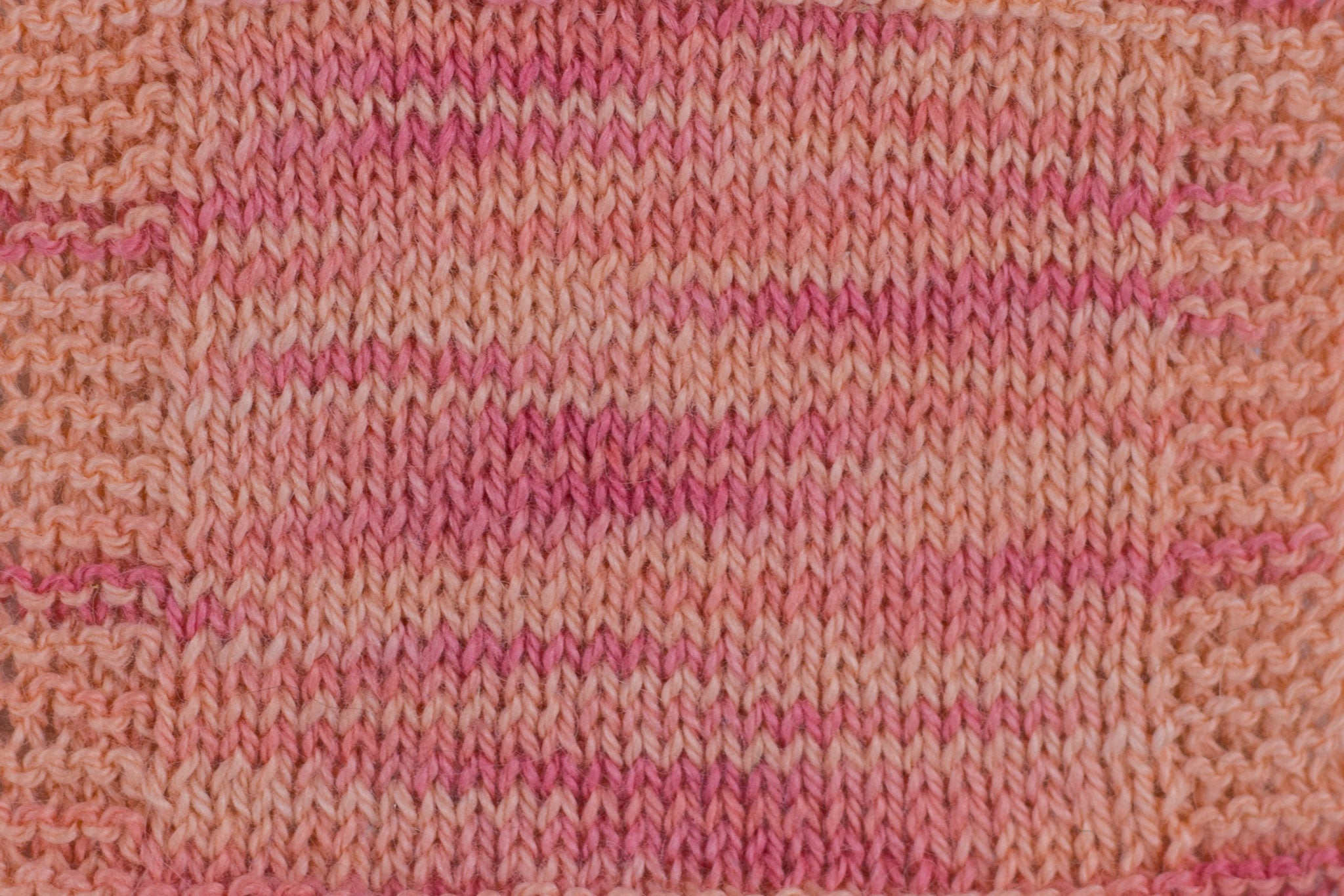 Organic & Fair Trade Cotton Yarn- Pink swatch