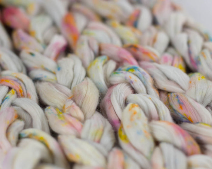 Cotton for Spinning - rainbow speckle