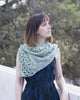 Open Waters Shawl by Melanie Berg knit using lace weight hand-dyed cotton