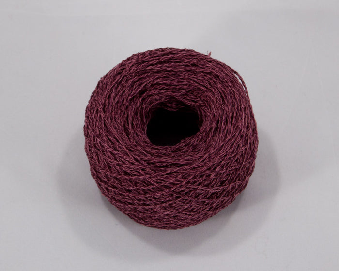Fingering Weight Linen/Silk Yarn - red