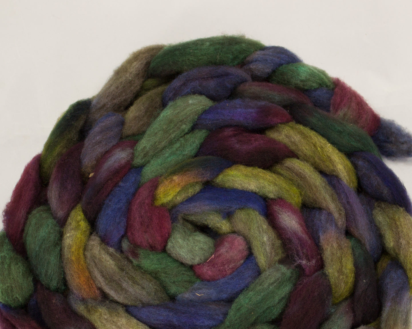 CVM/Cormo Roving - purple, teal, and yellow