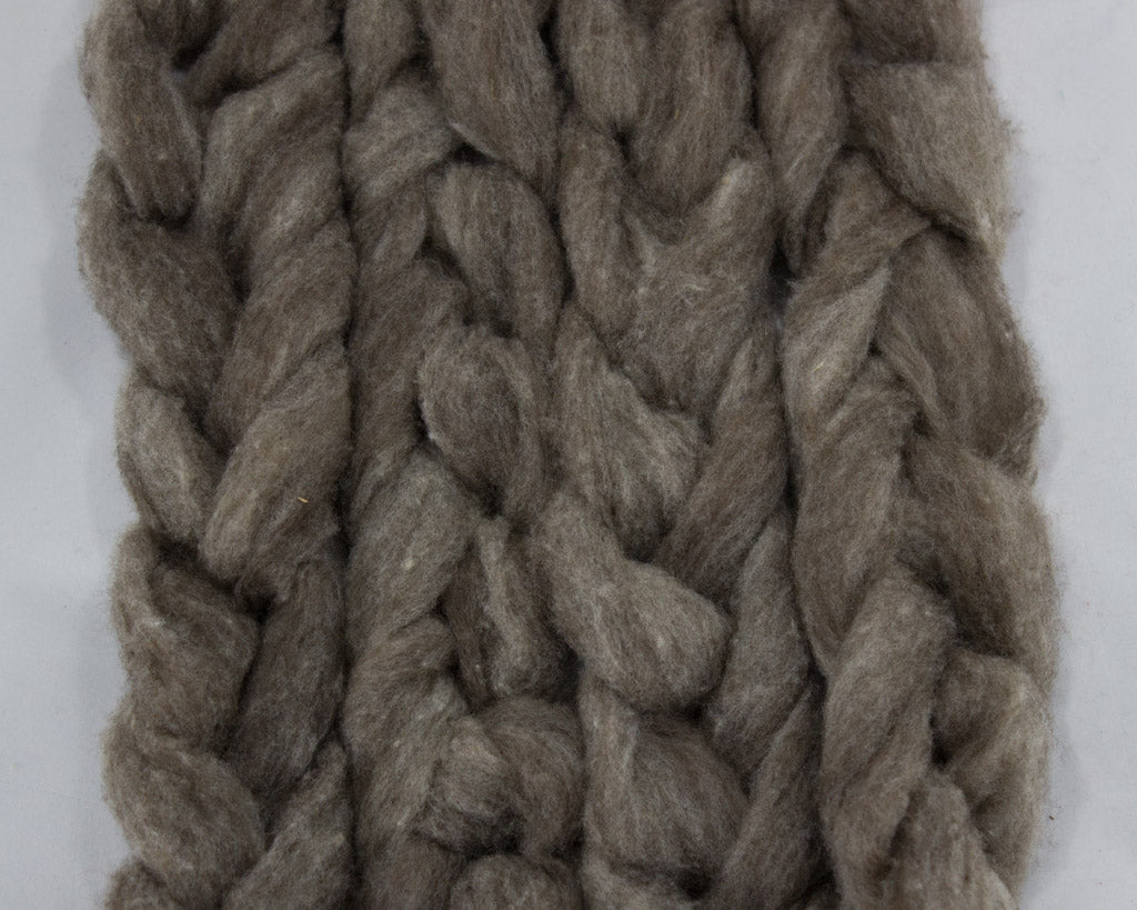 CVM-Cormo Wool Roving, Natural - Buchanan Fiber Co.