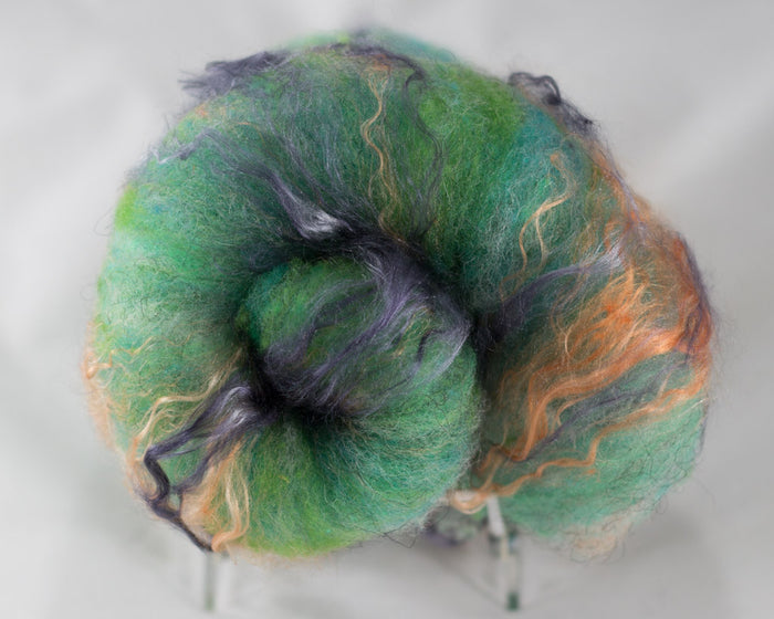 Rambouillet Icelandic Silk Batts, Raindrop - Buchanan Fiber Co.
