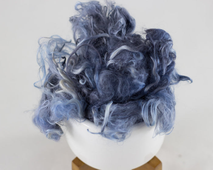 Suri Alpaca Locks, Blue Sage - Buchanan Fiber Co.