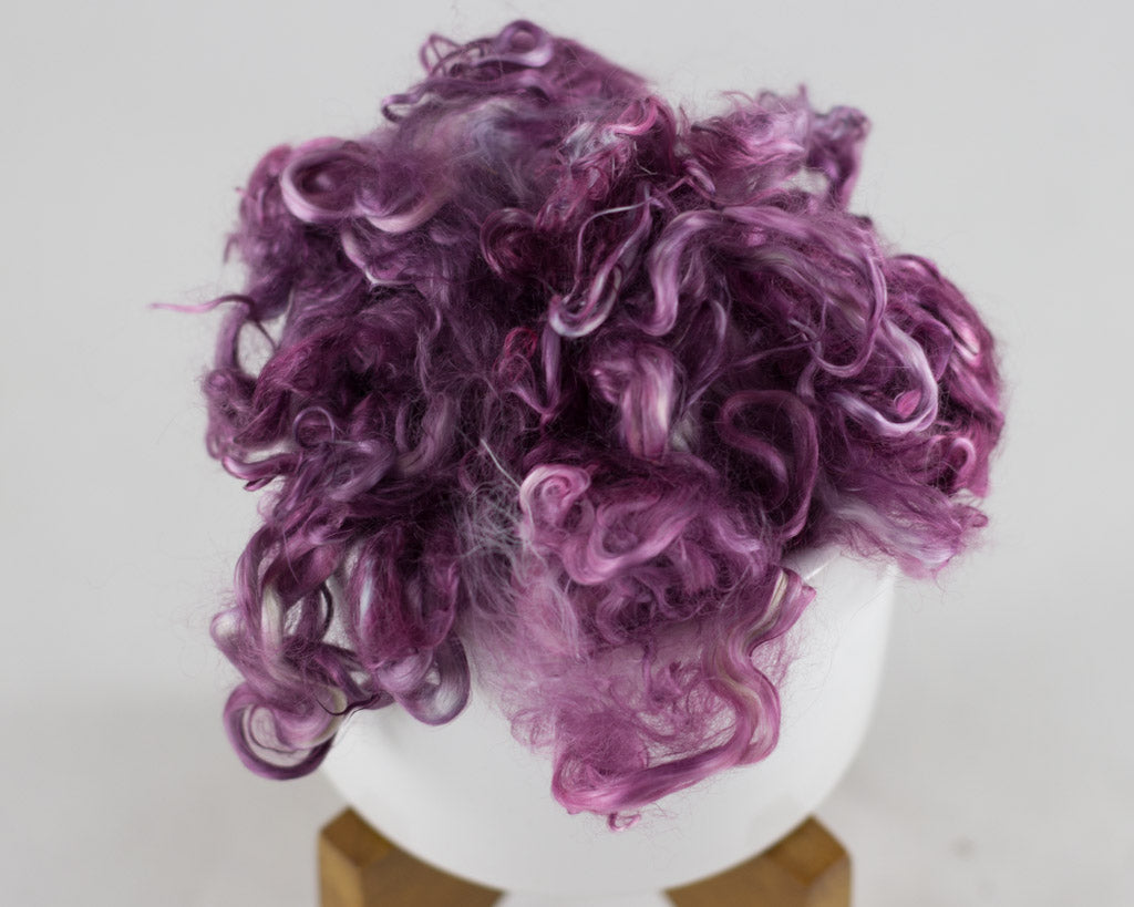 Suri Alpaca Locks, Prairie Clover - Buchanan Fiber Co.