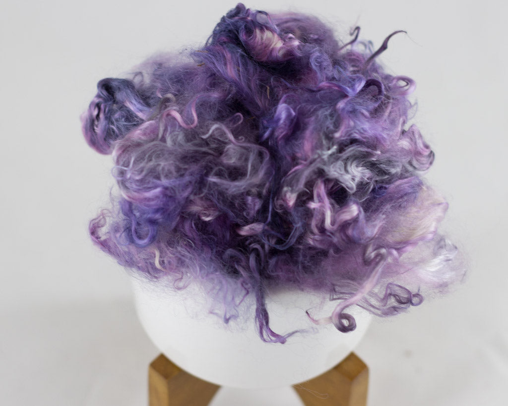 Suri Alpaca Locks, Wild Lupine - Buchanan Fiber Co.