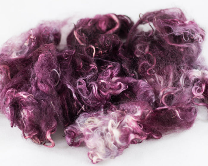 Suri Alpaca Locks, Ironweed - Buchanan Fiber Co.