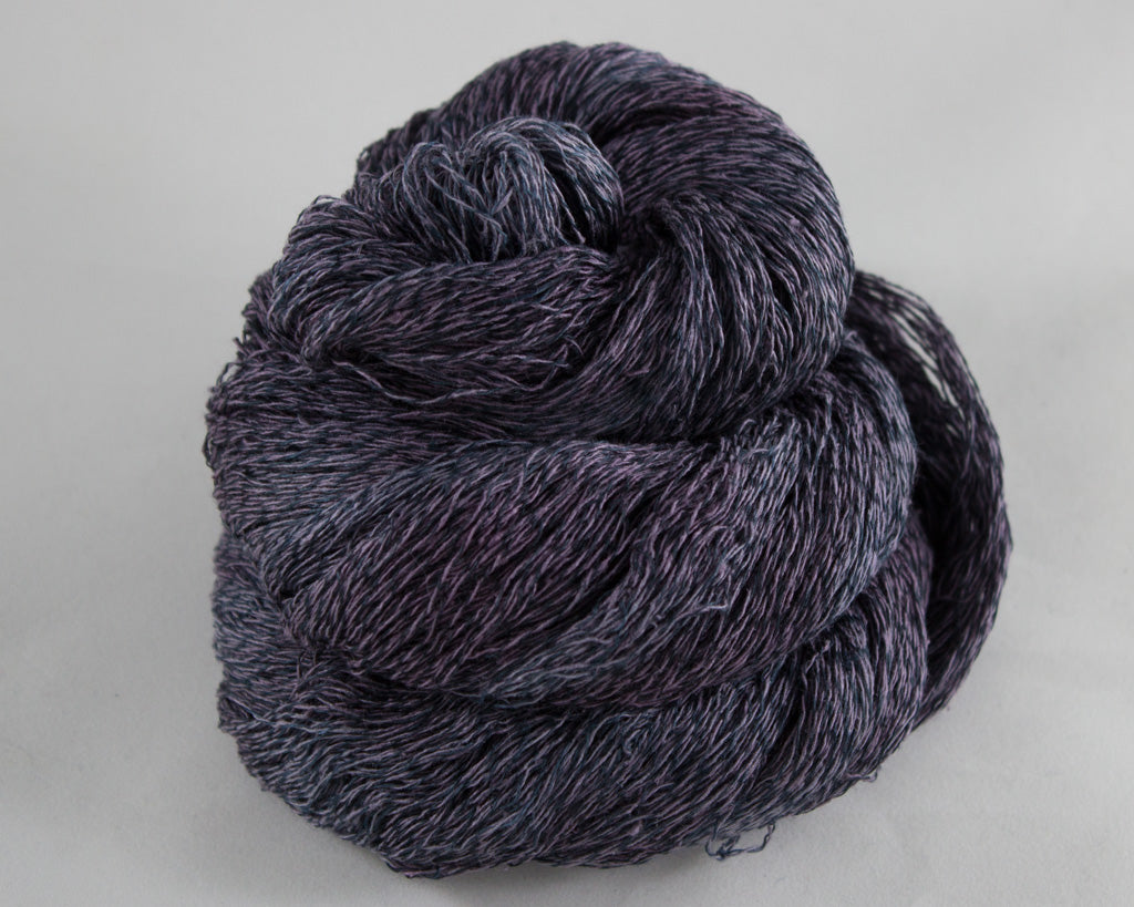 Lace Weight Linen/Silk yarn - black
