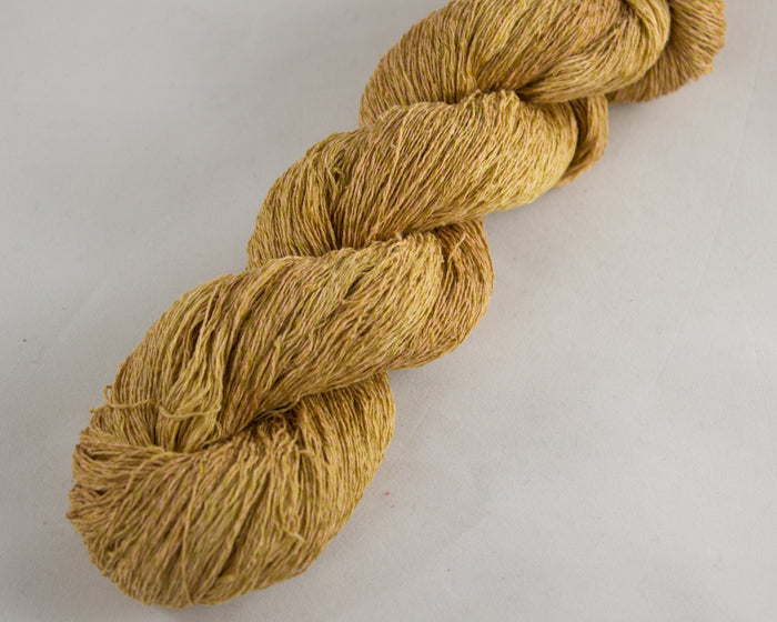 Lace Weight Linen/Silk yarn - gold