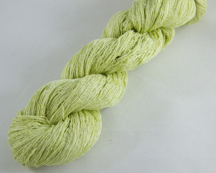 Lace Weight Linen/Silk yarn - light green