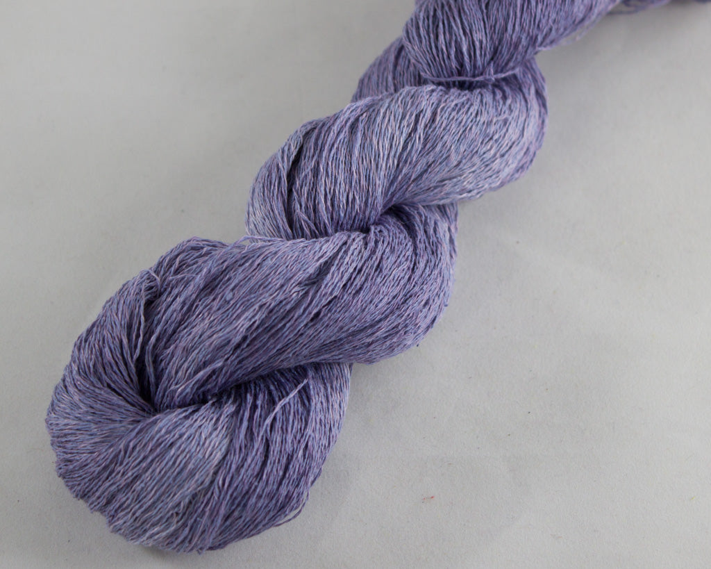 Lace Weight Linen/Silk yarn - periwinkle