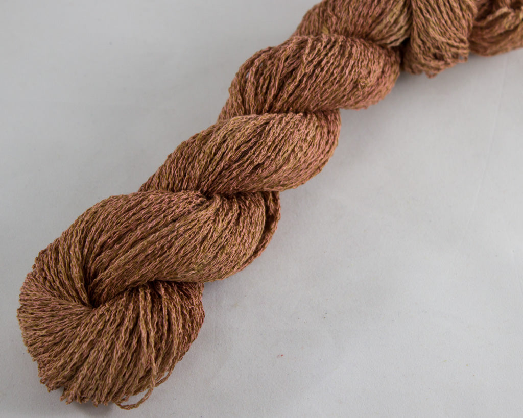 Fingering Weight Linen/Silk Yarn - Orange