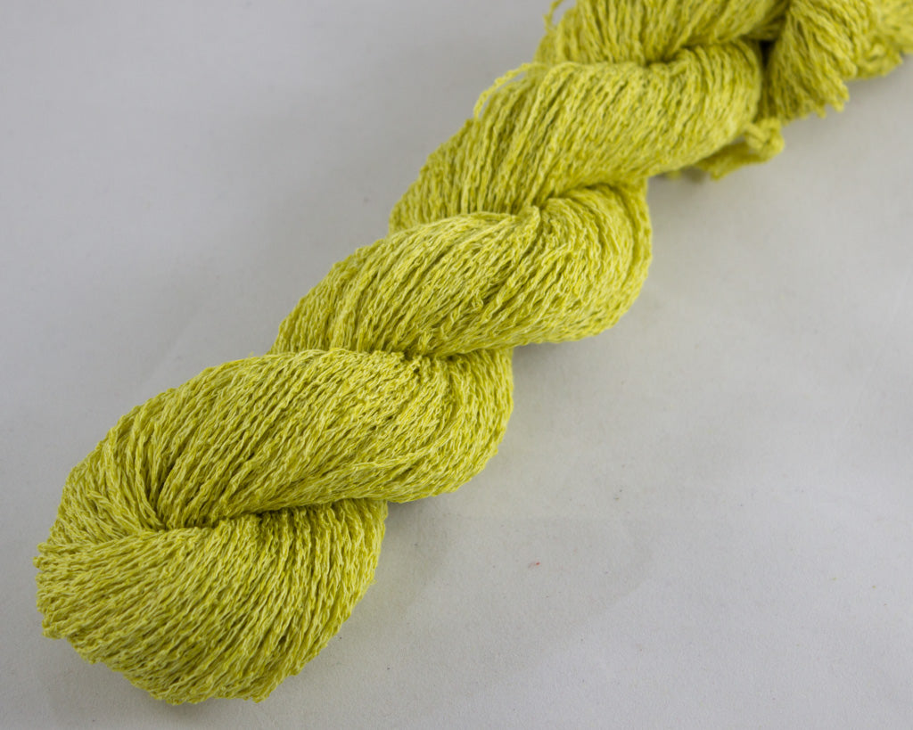 Fingering Weight Linen/Silk yarn - mustard yellow