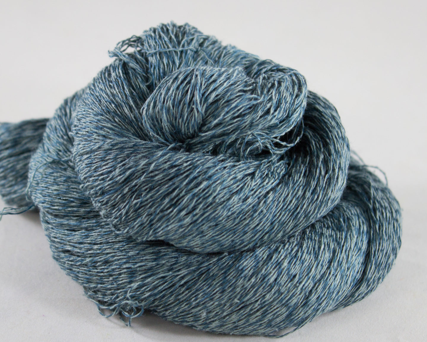 Lace Weight Linen/Silk Yarn - teal