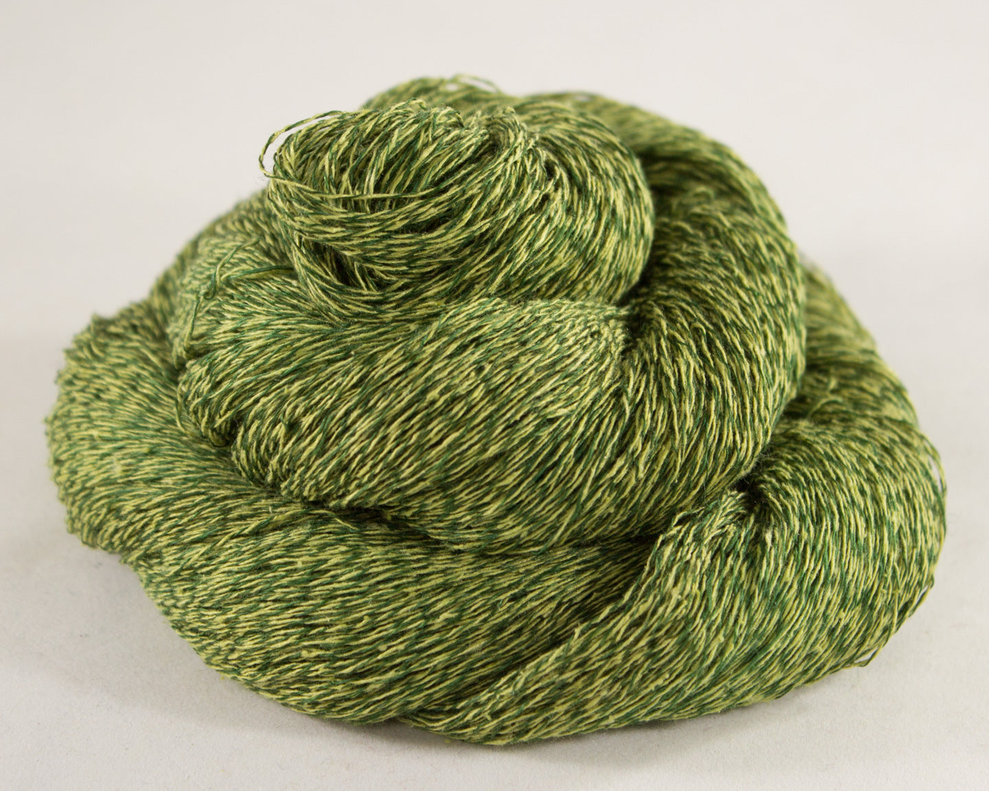 Lace Weight Linen/Silk Yarn - green