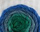 Cotton Spinning Fiber - green to blue gradient