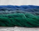 Cotton Spinning Fiber - blue to green gradient