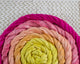 Cotton Spinning Fiber - yellow to pink gradient